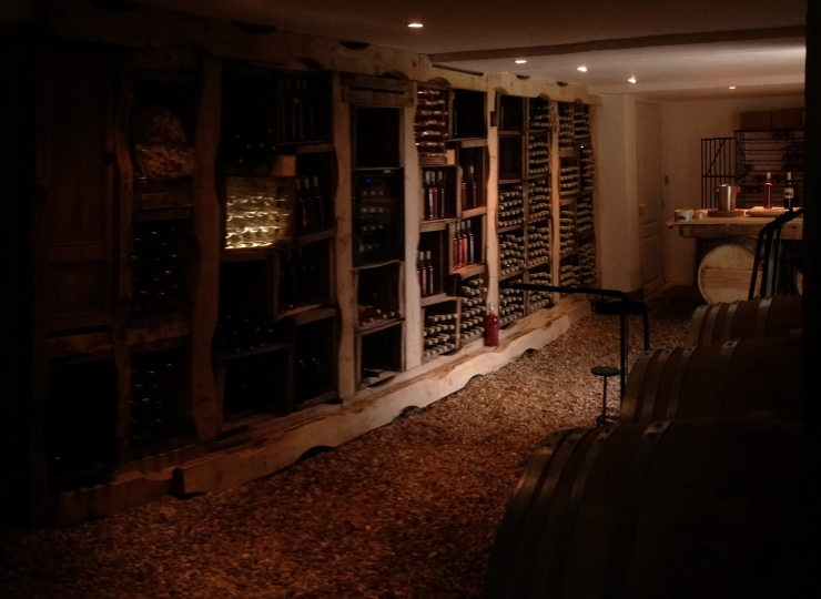Wine Tasting room of Le Garagiste